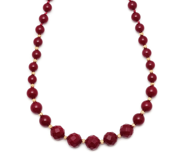 Lola Rose Apollo Necklace - Red Plum Quartzite