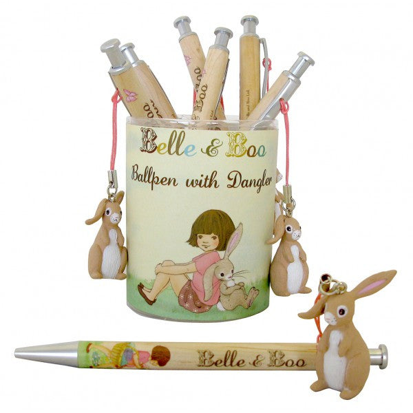 Belle & Boo Ballpoint Pen with Boo Dangler