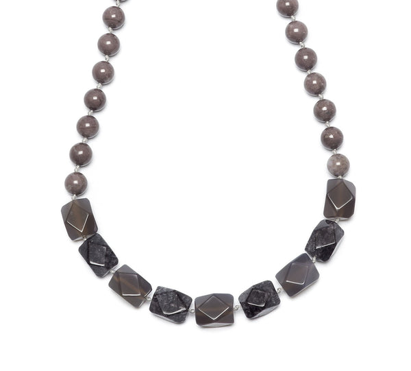 Lola Rose Barton Necklace - Grey Magnesite / Grey Agate