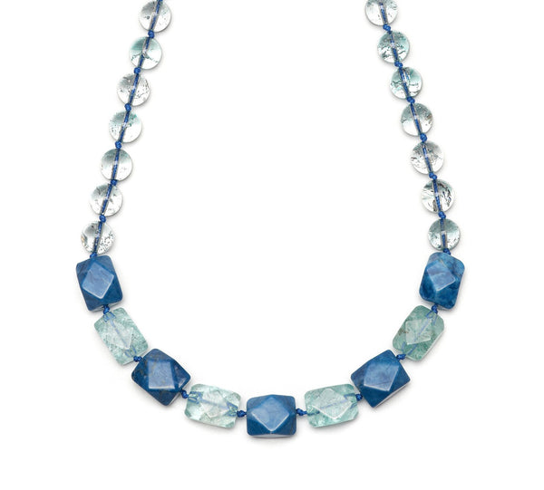 Lola Rose Barton Necklace - Baby Blue Rock Crystal / Sky Blue Magnesite