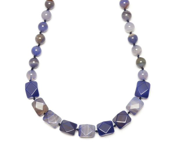 Lola Rose Barton Necklace - Blue Stripe Agate