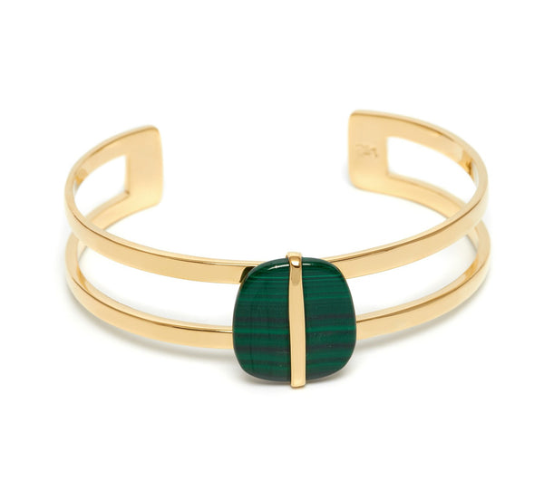 Lola Rose Boutique Bassa Cuff Bracelet - Malachite