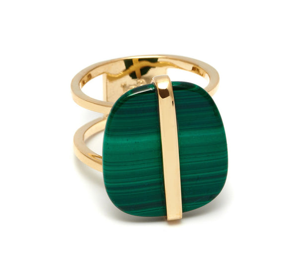 Lola Rose Boutique Bassa Ring - Malachite
