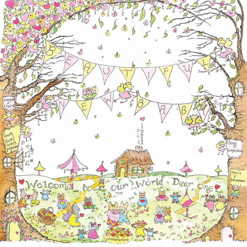The Porch Fairies Card - Beautiful New Baby