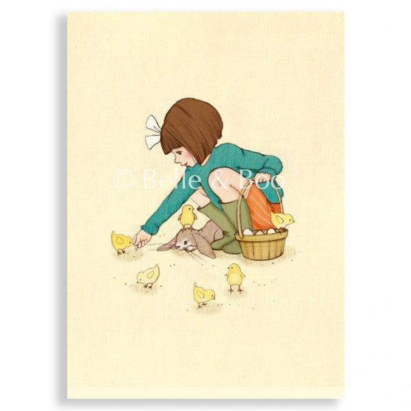 Belle & Boo 'Belle Feeds the Chicks' Card