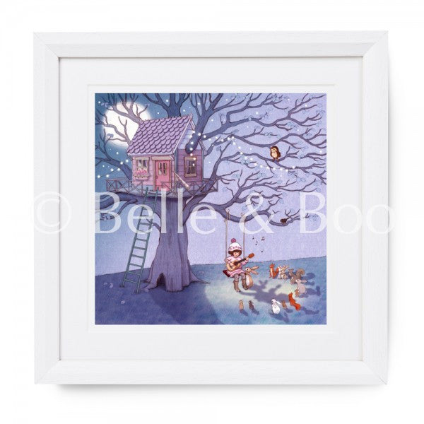 "Belle & Boo Belle's Lullaby 16 x 16"" Framed Art Print (Signed)"
