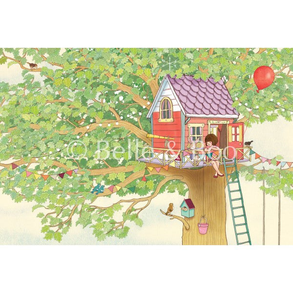 "Belle & Boo Belle's Tree House 11 x 14"" Framed Art Print (Signed)"