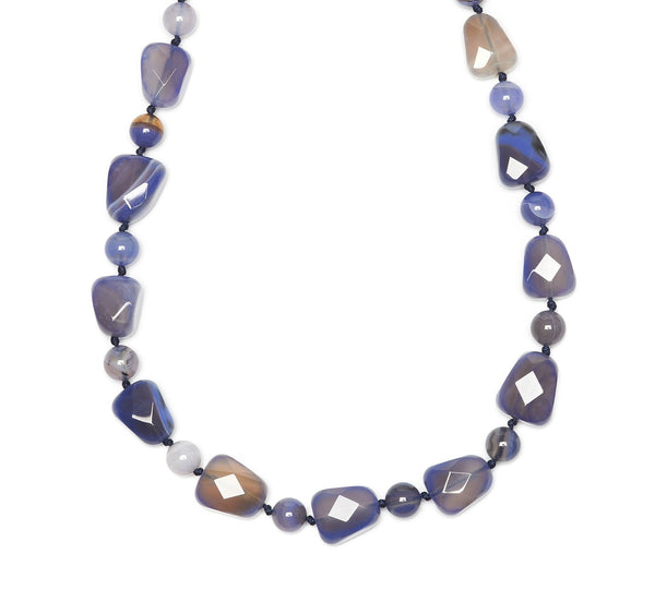 Lola Rose Bellsino Necklace - Blue Stripe Agate