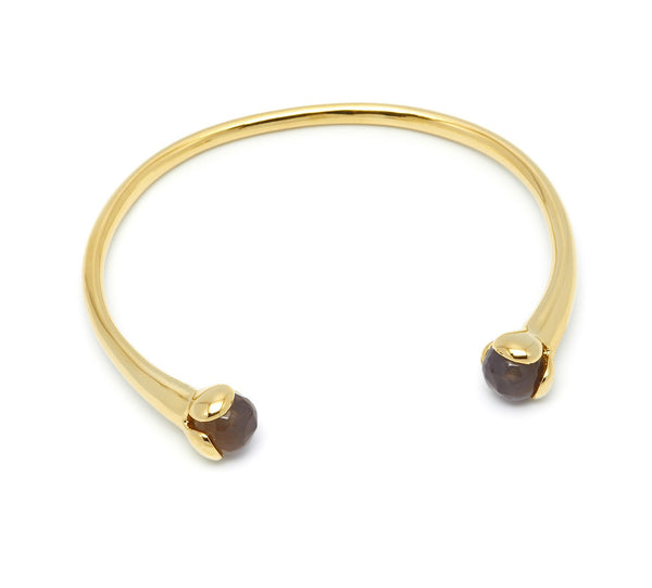 Lola Rose Boutique Bettina Bangle - Grey Agate