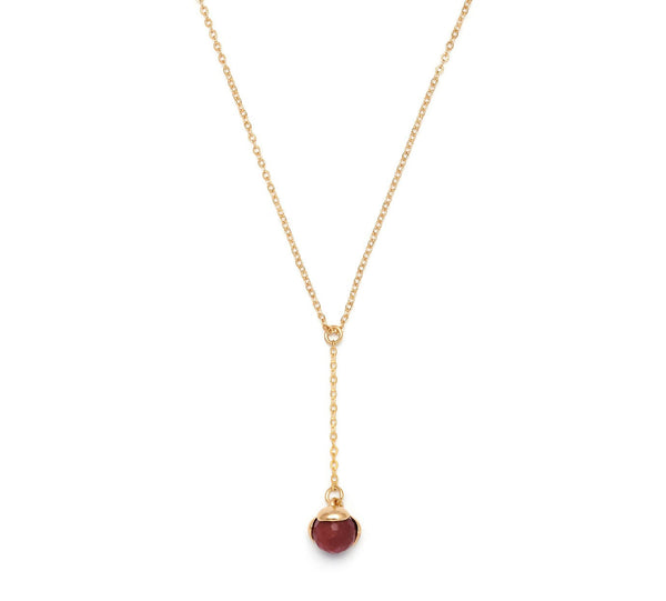 Lola Rose Boutique Bettina Necklace - Red Plum Quartzite