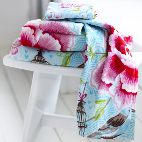 PiP Studio Birds in Paradise Towel Collection - Blue