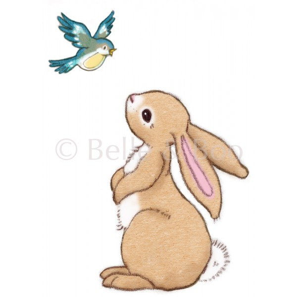 Belle & Boo Wall Sticker - Boo and the Butterfly