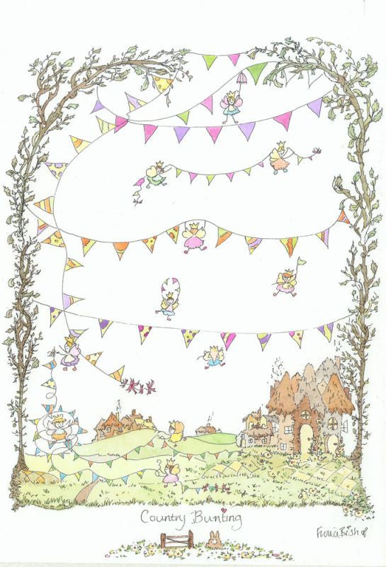 The Porch Fairies Small Picture - 'Country Bunting'