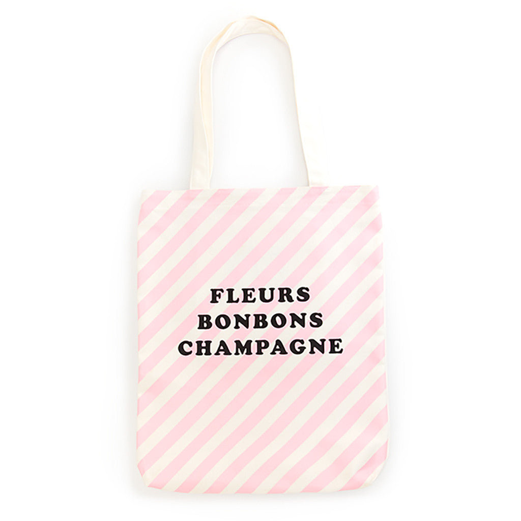 Ban.do Canvas Tote - Ticket Stripes In Blush