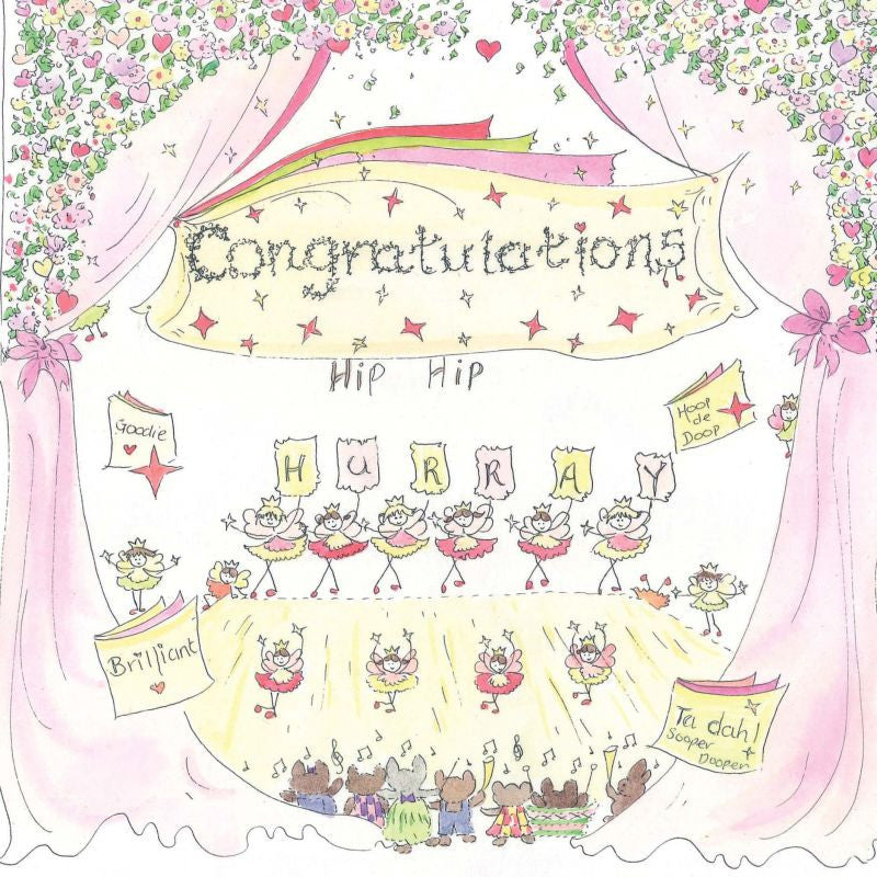The Porch Fairies Card - Congratulations