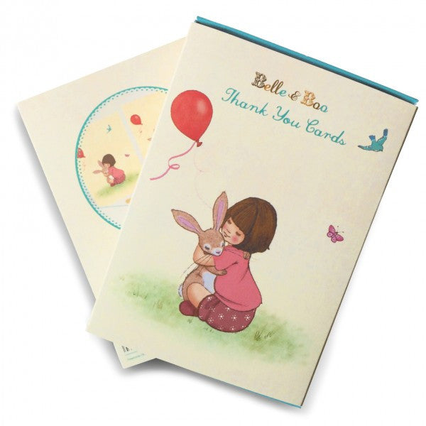 Belle & Boo Set of 8 Thank You Cards