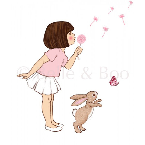 Belle & Boo Wall Sticker - Dandelion