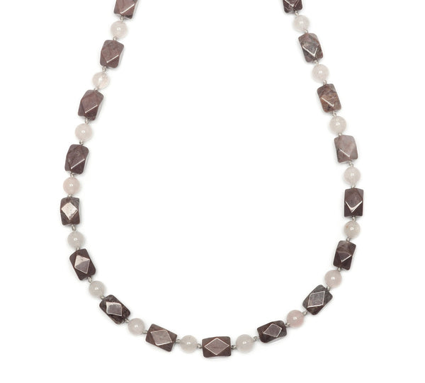 Lola Rose Elis Necklace - Grey Magnesite / Beryl Stone