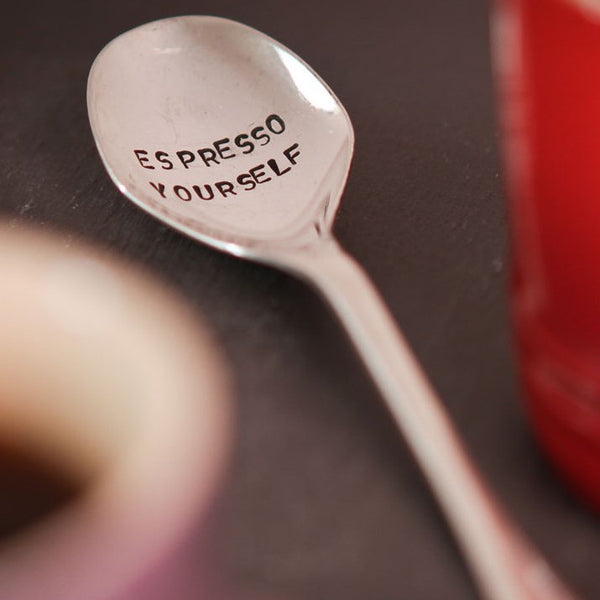 La De Da! Living Teaspoon - 'Espresso Yourself'