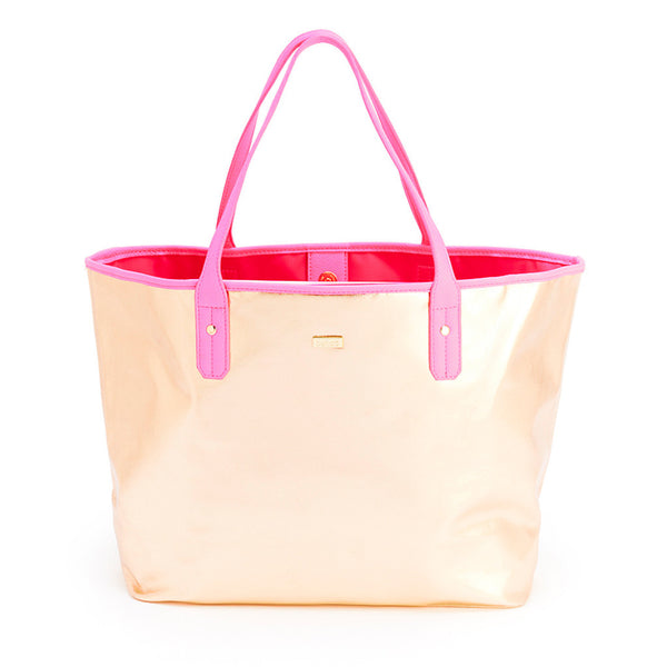 Ban.do The Everything Tote - Metallic Rose Gold & Neon Pink