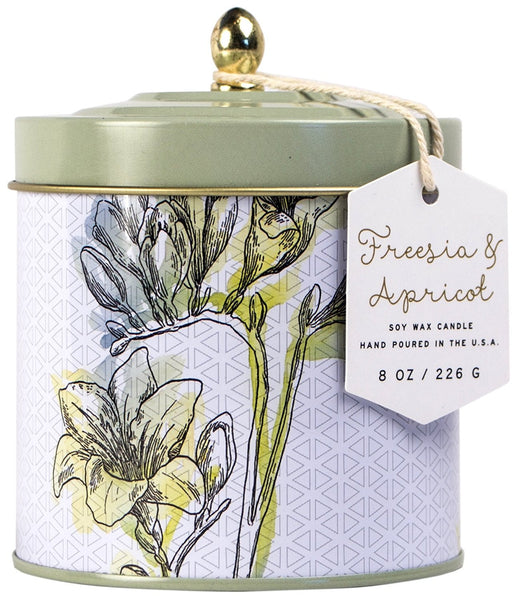 Paddywax Flower Market Freesia & Apricot Tin Candle (8oz.)