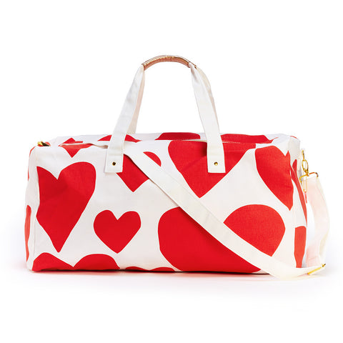 Ban.do The Getaway Duffle Bag - Extreme Supercute Hearts