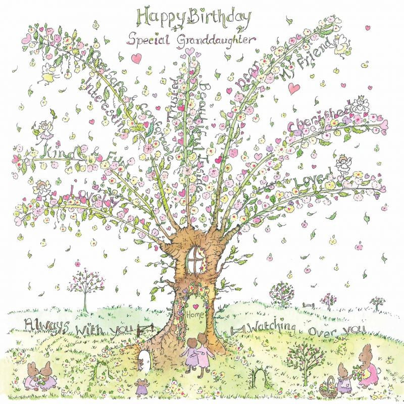 The Porch Fairies Birthday Card - Special Granddaughter