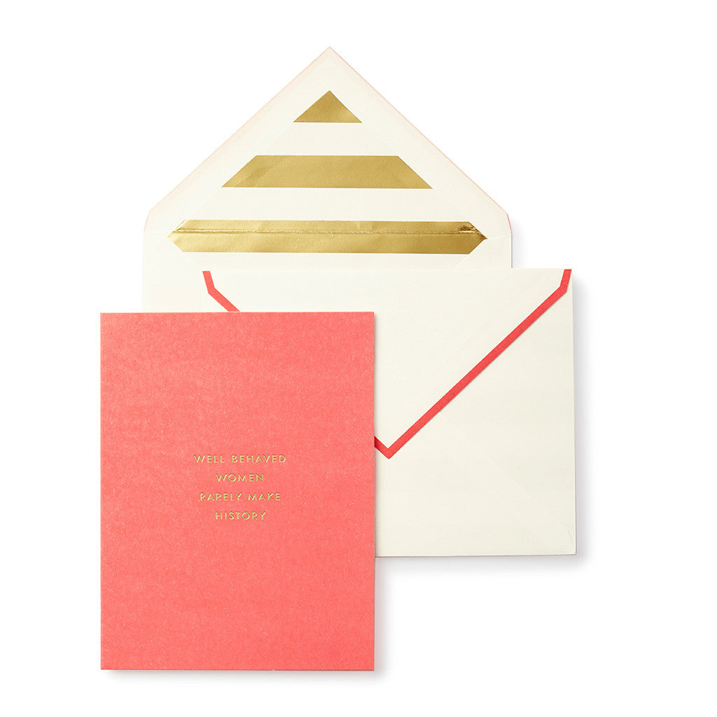 Kate Spade New York Greeting Card Make History The Lovely Room