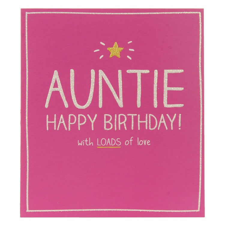 Happy Jackson Birthday Auntie Card