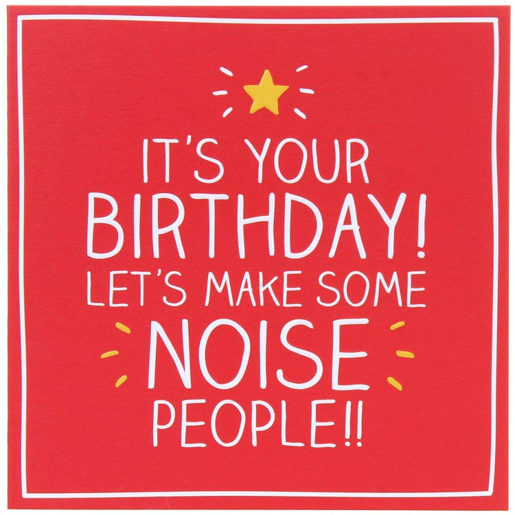 Happy Jackson Make Some Noise Birthday Card