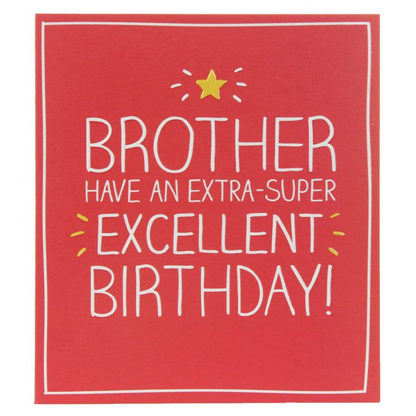 Happy Jackson Brother Extra-Super Excellent Birthday Card