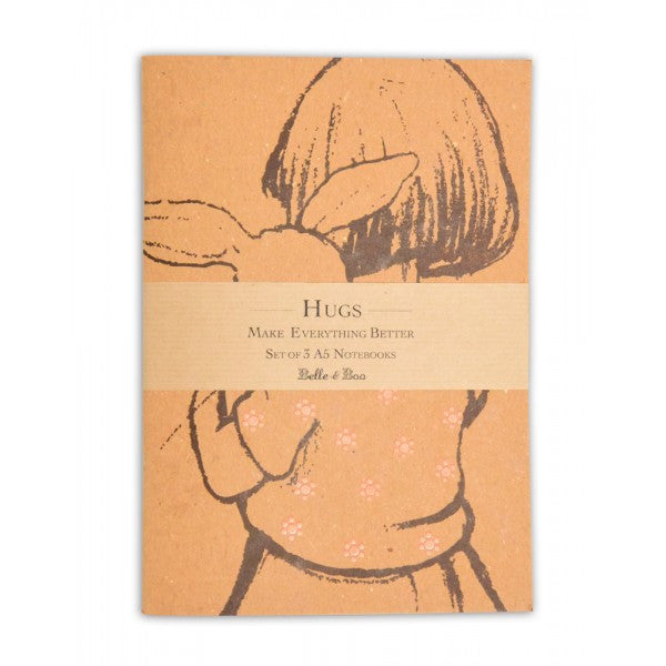 Belle & Boo 'Hugs' A5 Notebook Set