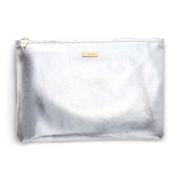 Ban.do Keep It Classy Zip Pouch - Metallic Silver