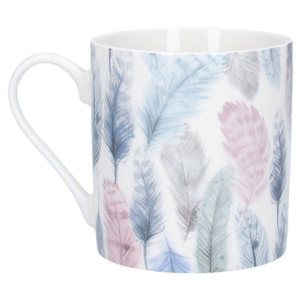 Gisela Graham Feathers Ceramic Mug