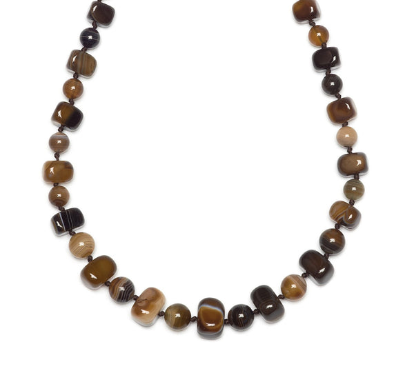 Lola Rose Mobi Necklace - Chocolate Montana Agate