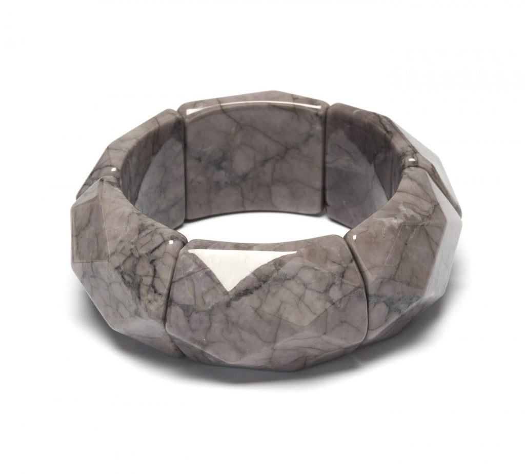 Lola Rose Riley Bracelet - Grey Magnesite