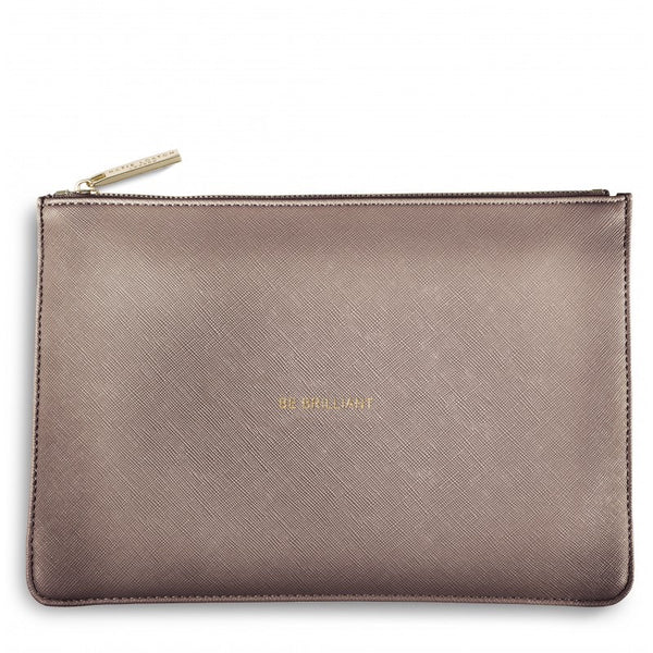 Katie Loxton Perfect Pouch - Be Brilliant (Rose Gold)