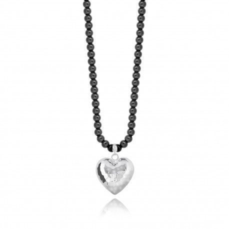 Joma Jewellery Millie Necklace - Dark Grey