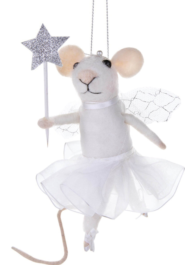 Sass & Belle Fairy Mouse with Star Felt Hanging Decoration