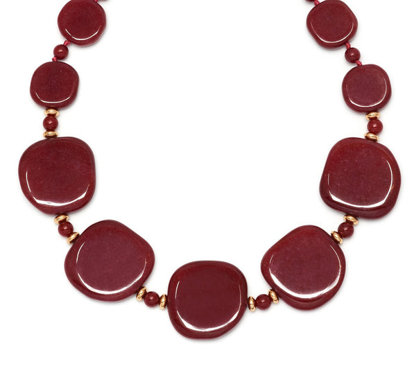 Lola Rose Trinah Necklace - Red Plum Quartzite
