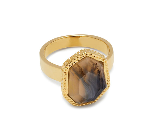 Lola Rose Boutique Zari Ring - Montana Agate
