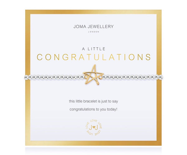 Joma Jewellery - A Little Congratulations Bracelet - Boxed