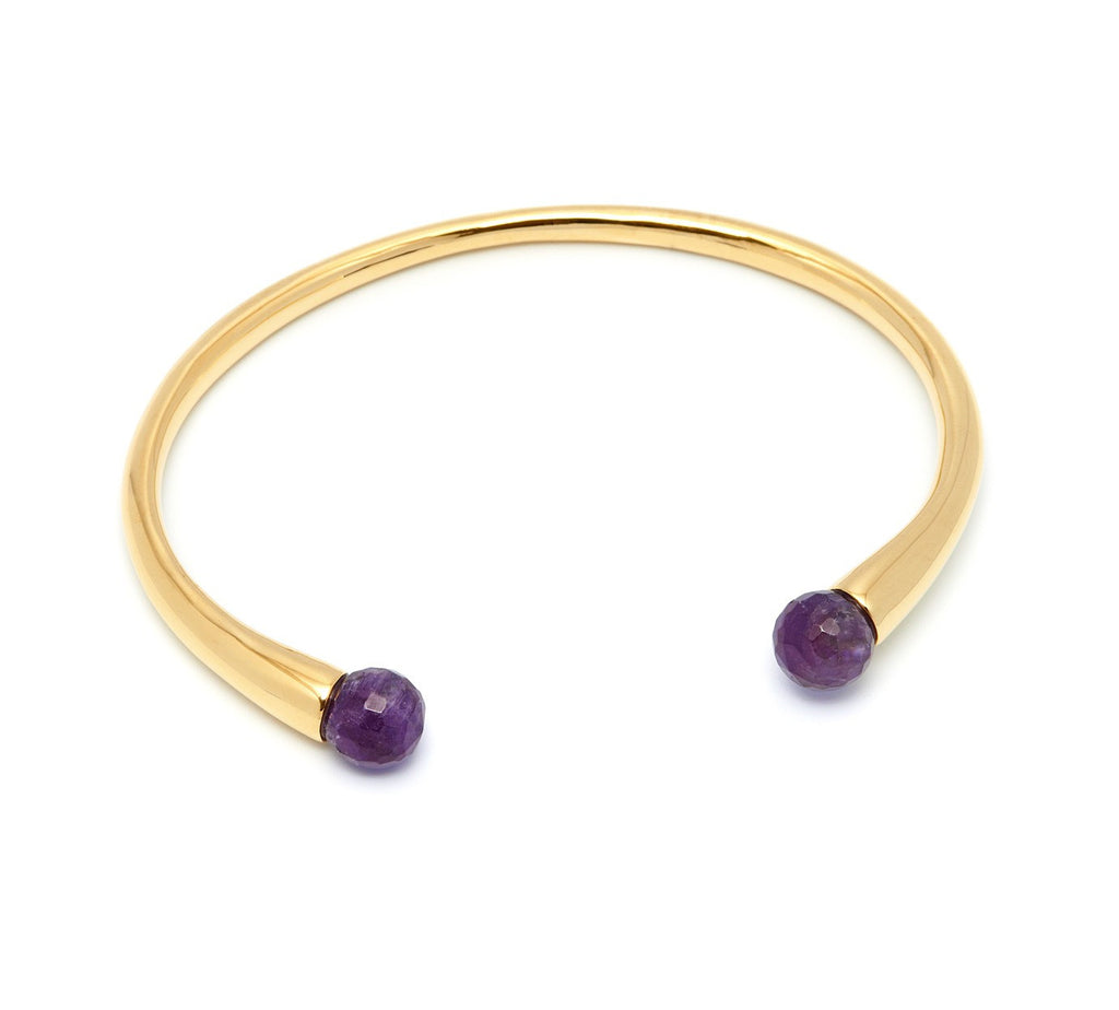 Lola Rose Boutique Cornelia Adjustable Bracelet - Dogtooth Amethyst