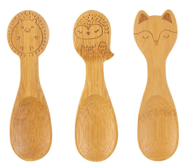 Sass & Belle Woodland Fox Bamboo spoons set of 3