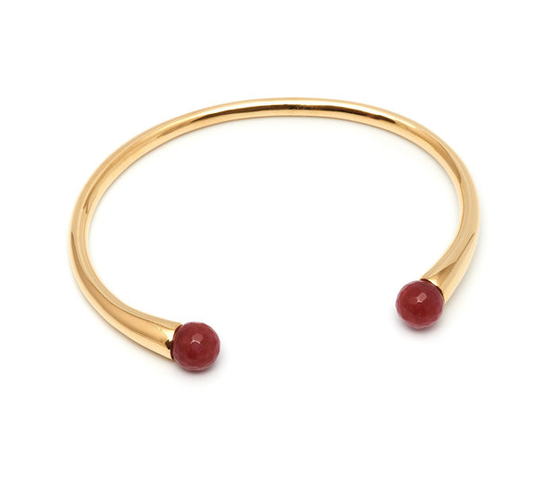 Lola Rose Boutique Cornelia Adjustable Bracelet - Red Plum Quartzite