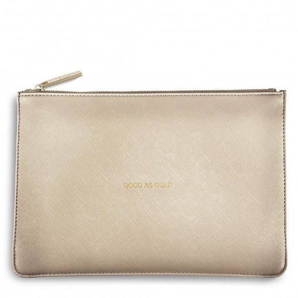 Katie Loxton Perfect Pouch - Good As Gold (Gold)