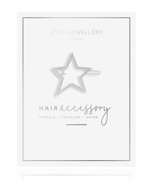 Joma Jewellery -  Hair Accessory Silver Pave Star Clip