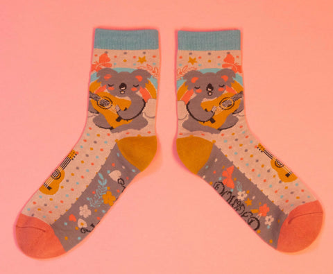Powder Musical Koala Ankle Socks