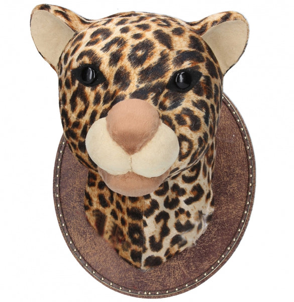 Gisela Graham Leopard Wall Animal Head On Plaque