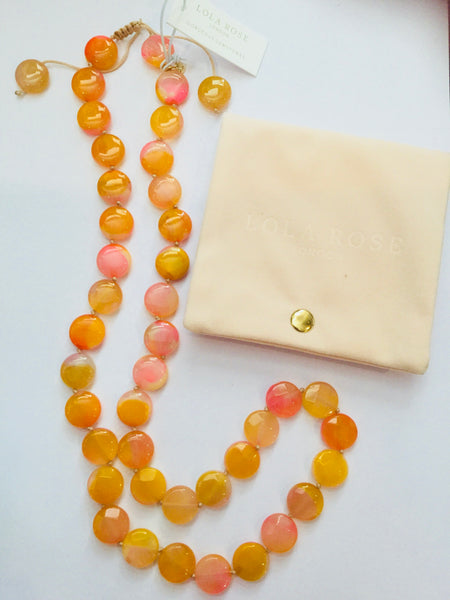 Lola Rose Portia Necklace - Sunrise Montana Agate